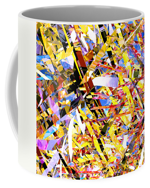 Abstract Coffee Mug featuring the digital art Abstract Curvy 33 by Russell Kightley