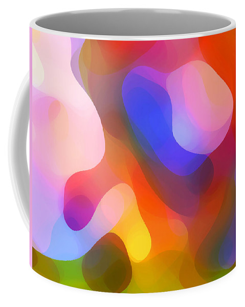 Abstract Art Coffee Mug featuring the painting Abstract Dappled Sunlight by Amy Vangsgard