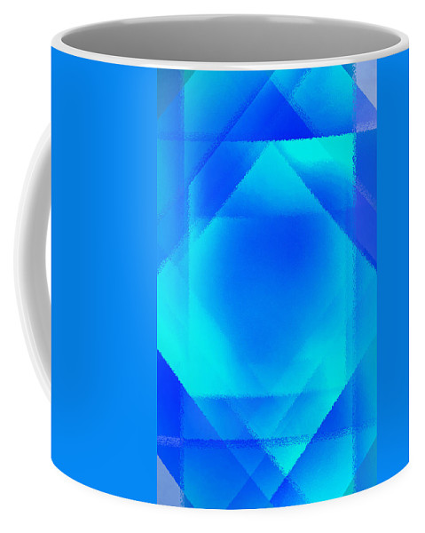 Abstract Coffee Mug featuring the digital art Abstract Diamond by Steve Ball