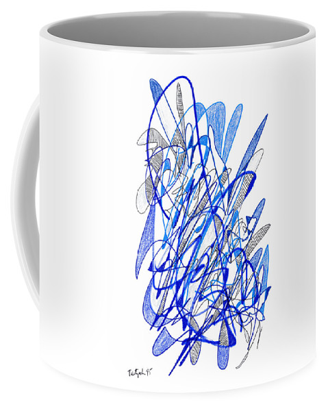 Abstract Coffee Mug featuring the drawing Abstract Drawing Seventy by Lynne Taetzsch
