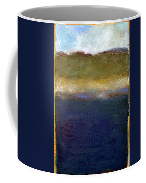 Oceanside Coffee Mug featuring the painting Abstract Dunes Ll by Michelle Calkins