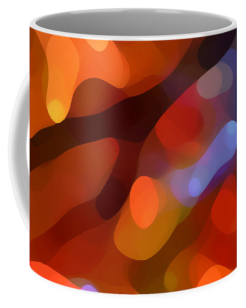 Abstract Art Coffee Mug featuring the painting Abstract Fall Light by Amy Vangsgard