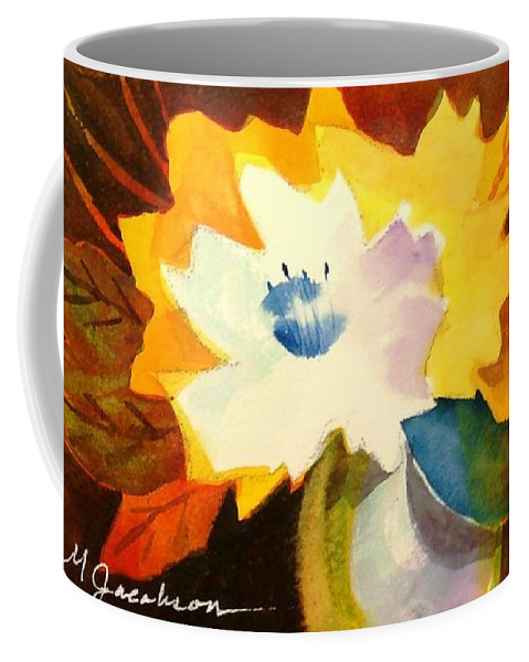 Flowers Coffee Mug featuring the painting Abstract Flowers 2 by Marilyn Jacobson