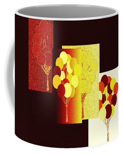 #abstractfusion192 Coffee Mug featuring the digital art Abstract Fusion 192 by Will Borden