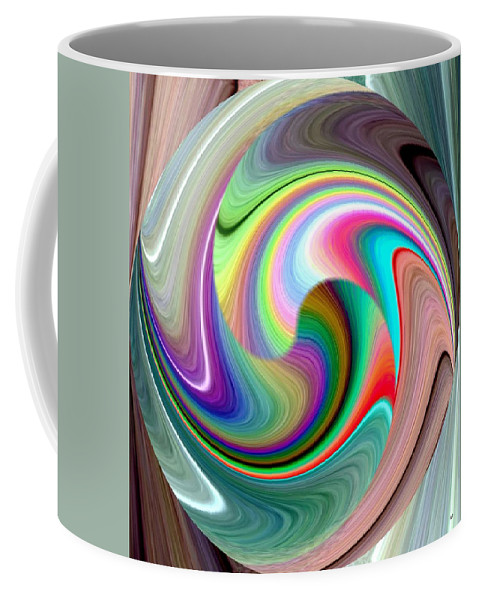 Abstract Fusion 241 Coffee Mug featuring the digital art Abstract Fusion 241 by Will Borden