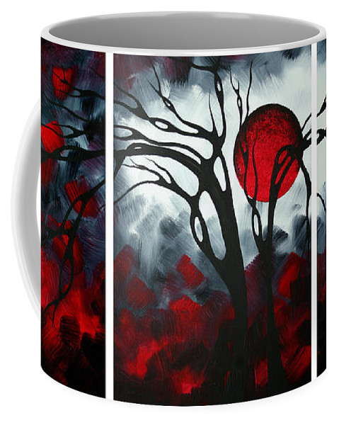 Abstract Coffee Mug featuring the painting Abstract Gothic Art Original Landscape Painting IMAGINE by MADART by Megan Duncanson