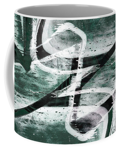 Abstract Coffee Mug featuring the digital art Abstract Graffiti 10 by Steve Ball