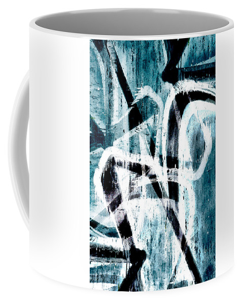Abstract Coffee Mug featuring the digital art Abstract Graffiti 4 by Steve Ball