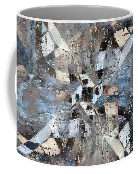 Abstract Coffee Mug featuring the digital art Abstract Graffiti 6 by Steve Ball