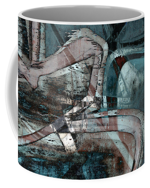Abstract Coffee Mug featuring the digital art Abstract Graffiti 9 by Steve Ball