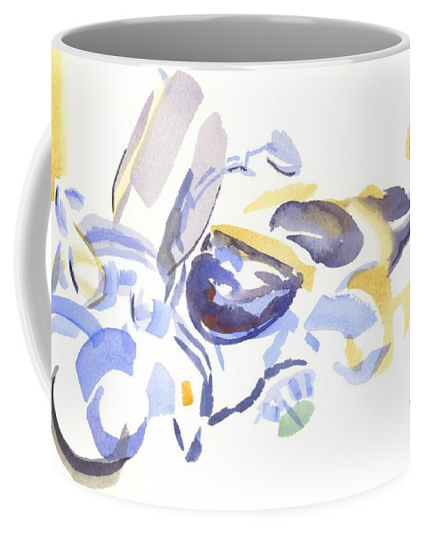 Abstract Motorcycle Coffee Mug featuring the painting Abstract Motorcycle by Kip DeVore