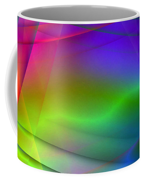 Abstract Coffee Mug featuring the digital art Abstract Light by Steve Ball