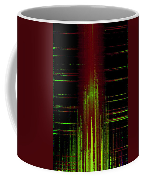 Background Coffee Mug featuring the digital art Abstract Lines 2 by Steve Ball