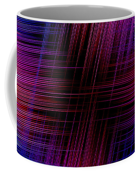 Purple Coffee Mug featuring the digital art Abstract Lines 3 by Steve Ball