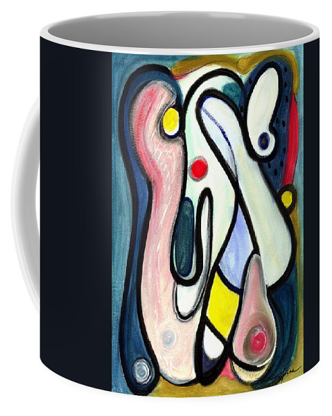 Abstract Art Coffee Mug featuring the painting Abstract Mystery by Stephen Lucas
