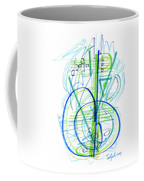Abstract Coffee Mug featuring the drawing Abstract Pen Drawing Fifty-eight by Lynne Taetzsch