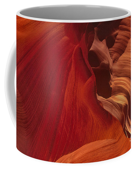 Dave Welling Coffee Mug featuring the photograph Abstract Red Sandstone Formations Lower Antelope Slot by Dave Welling