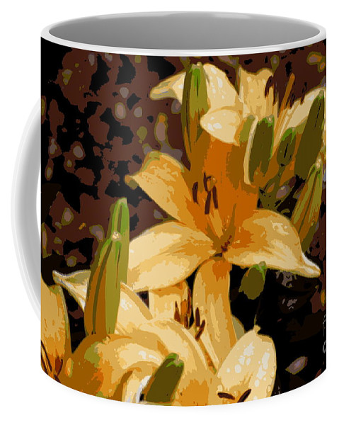 Lily Coffee Mug featuring the photograph Abstract Yellow Asiatic Lily - 2 by Kenny Glotfelty