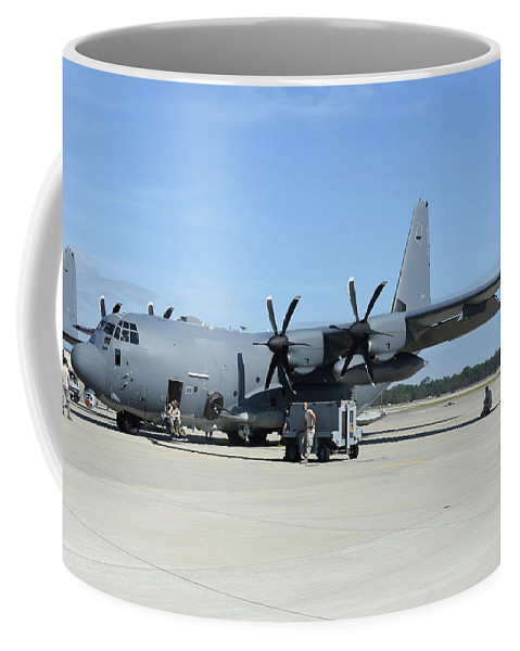 Florida Coffee Mug featuring the photograph Ac-130j Ghostrider At Hurlburt Field by Riccardo Niccoli