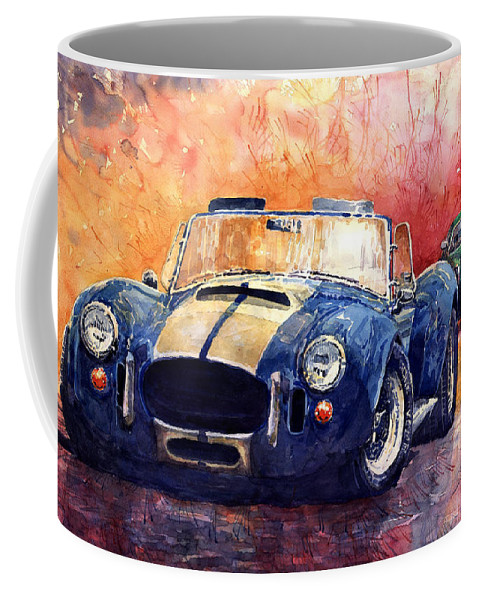 Shevchukart Coffee Mug featuring the painting AC Cobra Shelby 427 by Yuriy Shevchuk