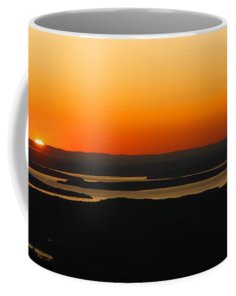 Sunset Coffee Mug featuring the photograph Acadia Sunset by Olivier Le Queinec