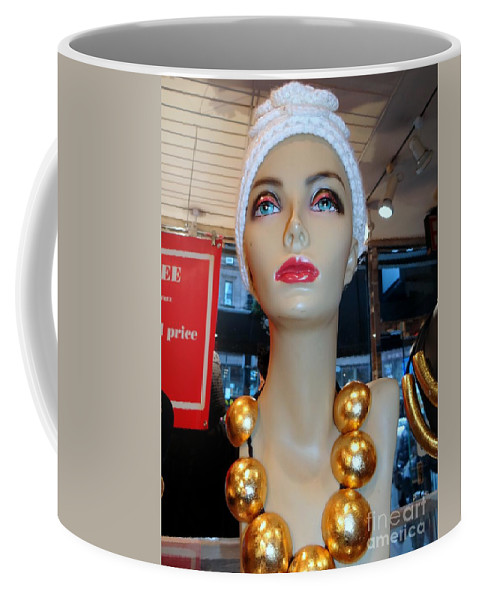 Mannequins Coffee Mug featuring the photograph Accent Necklace by Ed Weidman