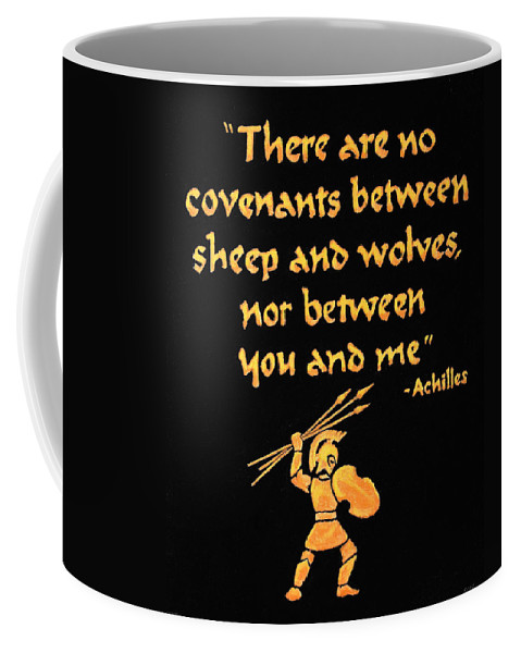 Achilles Coffee Mug featuring the painting Achilles Admonition by Dale Loos Jr