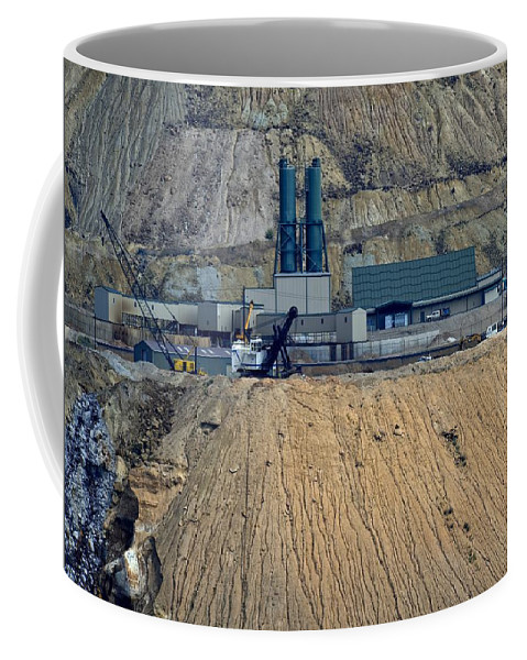 Butte Coffee Mug featuring the photograph Across The Berkeley Pit Viewing by Image Takers Photography LLC - Carol Haddon
