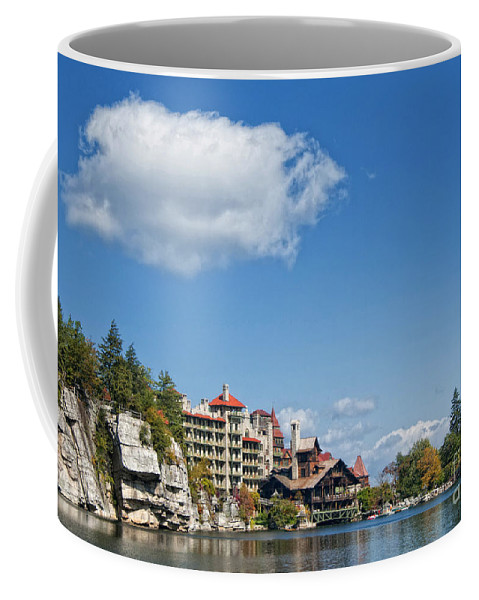 Mohonk Coffee Mug featuring the photograph Across The Lake by Claudia Kuhn