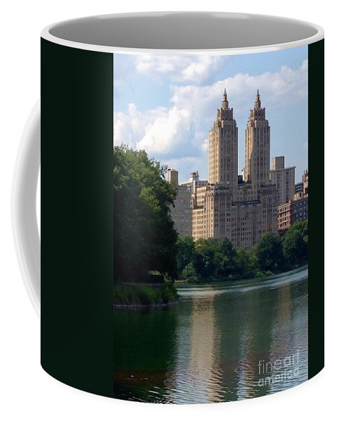 Reservoir Coffee Mug featuring the photograph Across The Reservoir by Christy Gendalia