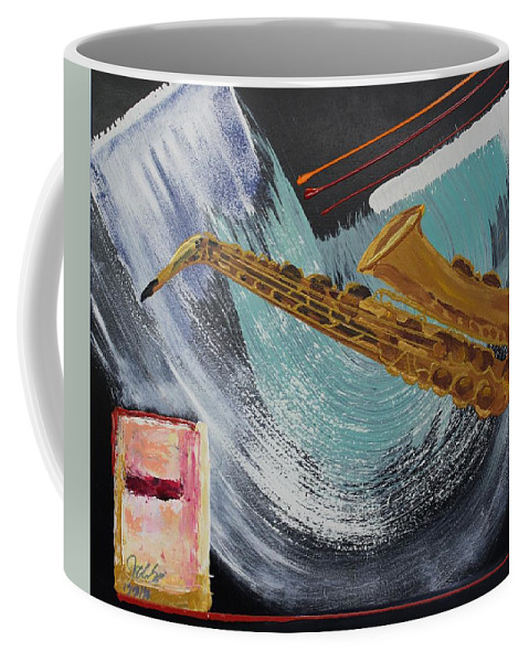 Originals Coffee Mug featuring the painting Acrylic Msc 036 by Mario Sergio Calzi
