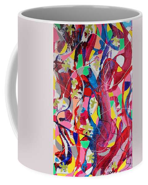 Originals Coffee Mug featuring the painting Acrylic Msc 042 by Mario Sergio Calzi