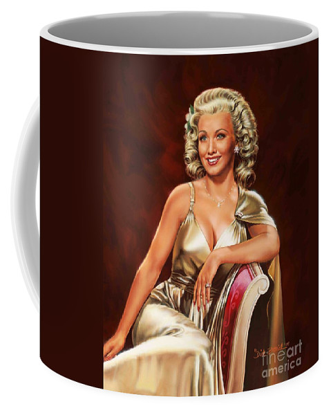 Portrait Coffee Mug featuring the painting Actress Carole Landis by Dick Bobnick