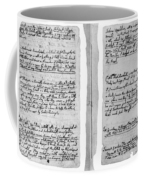 1770 Coffee Mug featuring the painting Adams Law Notes, 1770 by Granger