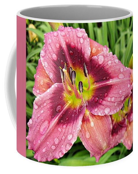 Daylily Coffee Mug featuring the photograph Addie Branch Smith Daylily Drops by MTBobbins Photography