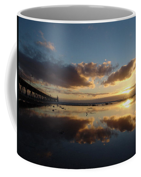 Adelaide Coffee Mug featuring the photograph Adelaide Sunset by Ian Mcadie