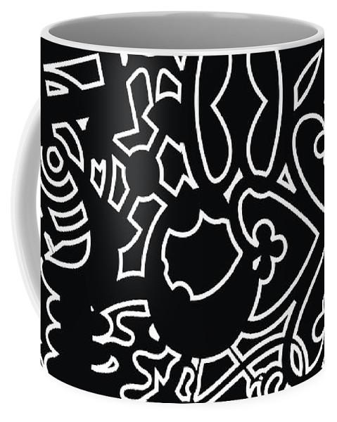 Adinke Coffee Mug featuring the digital art Adinkra Splash by Adinke Inc