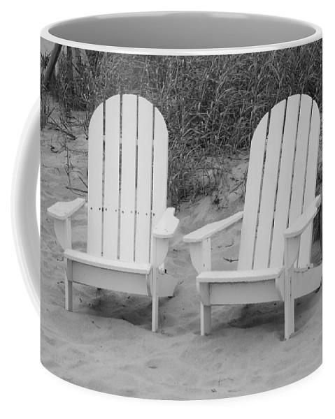 Chairs Coffee Mug featuring the photograph Adirondachairs by Rob Hans
