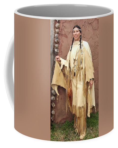 Indian Coffee Mug featuring the photograph Adobe Wall by Cindy New
