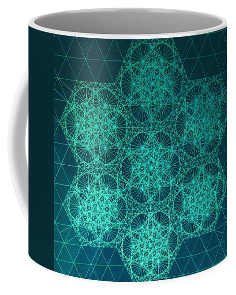 Jason Coffee Mug featuring the drawing Adrift In Space Time by Jason Padgett