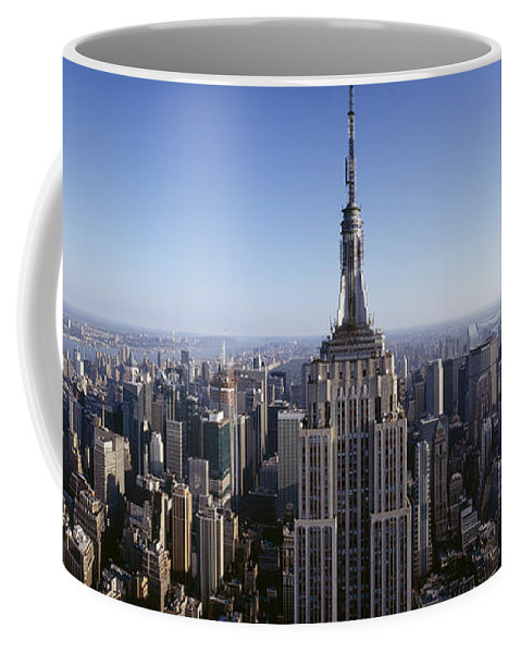 Photography Coffee Mug featuring the photograph Aerial View Of A Cityscape, Empire by Panoramic Images