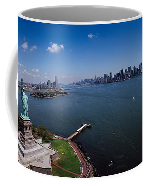 Photography Coffee Mug featuring the photograph Aerial View Of A Statue, Statue by Panoramic Images