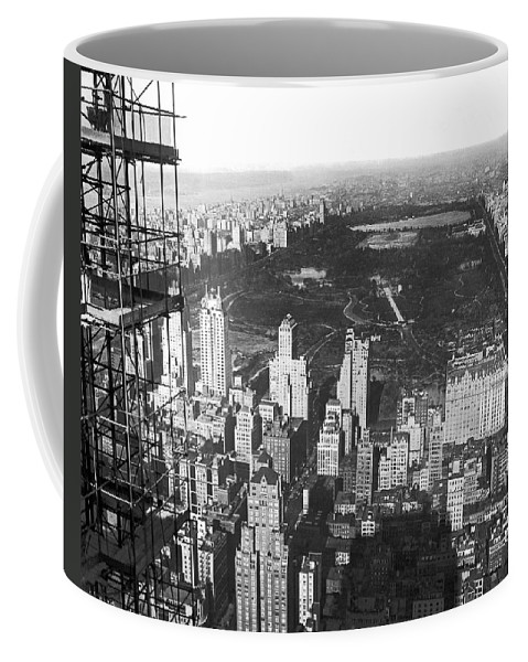 1933 Coffee Mug featuring the photograph Aerial View Of Central Park by Underwood & Underwood