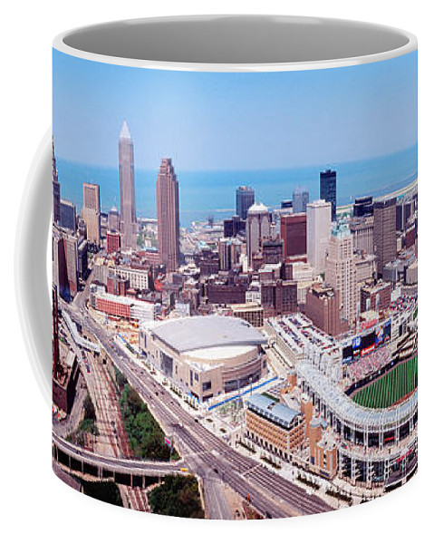 Photography Coffee Mug featuring the photograph Aerial View Of Jacobs Field, Cleveland by Panoramic Images