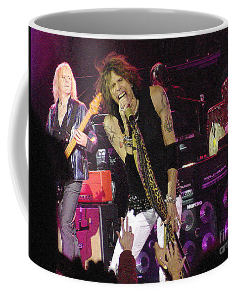 Aerosmith Coffee Mug featuring the photograph Aerosmith - Steven Tyler - Dsc00072 by Gary Gingrich Galleries