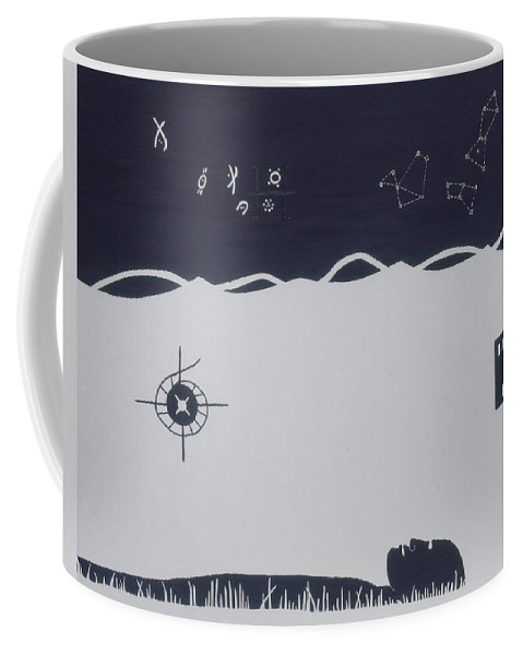 Dogon Tribe Coffee Mug featuring the painting Africa by Elle Nicolai