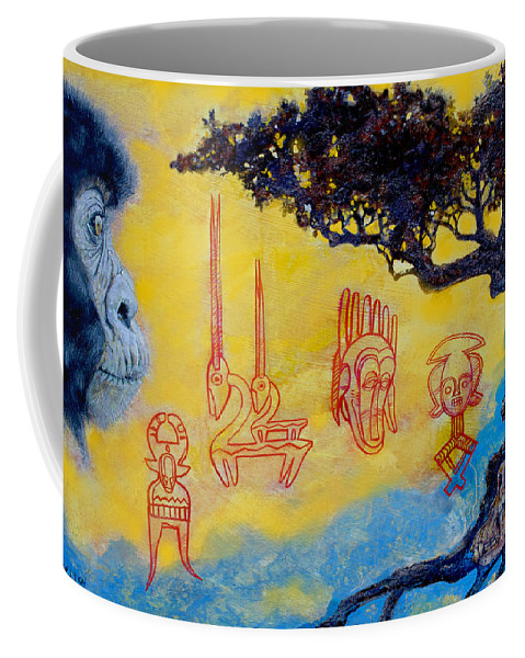 Africa Coffee Mug featuring the painting African Dream by Derrick Higgins