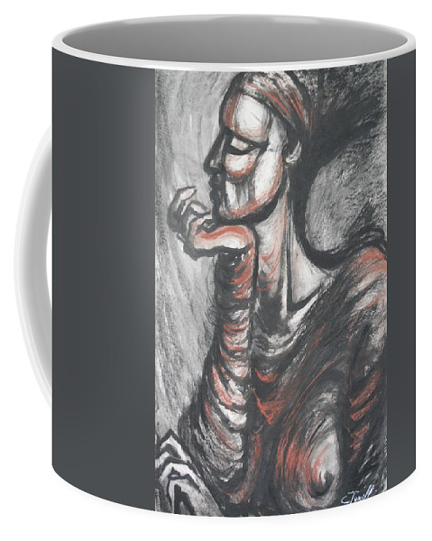 Original Coffee Mug featuring the painting African Queen by Carmen Tyrrell