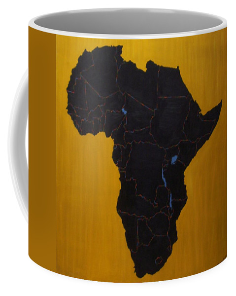 Africa Coffee Mug featuring the painting Afrika by Leslye Miller