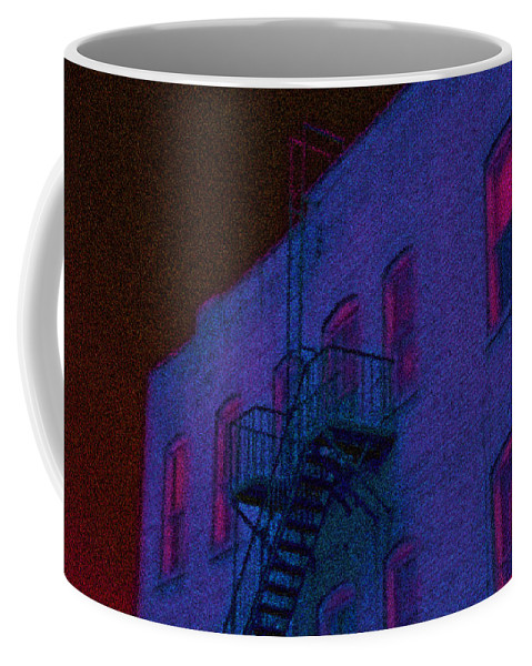 Bristol Coffee Mug featuring the photograph after hours glow -Seurat Style by Denise Beverly